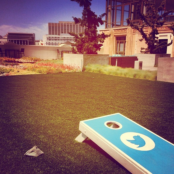 Rooftop at Twitter HQ.