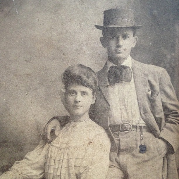 Legit throwback. Great grandmother and her brother. ca ~1900.
