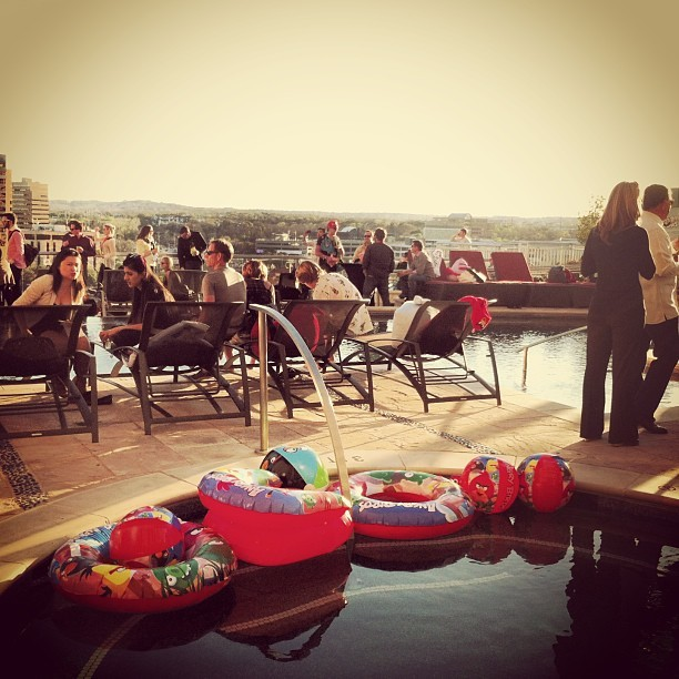 This is happening. (at Angry Birds Toons Pool Party @ The Ashton)