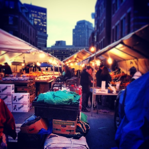 Haymarket on a cold #Boston night. (at Haymarket Square Farmer's Market)