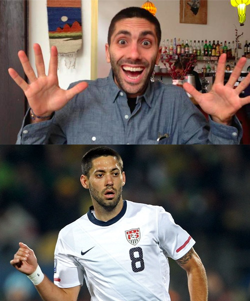 We just started watching the  Catfish TV show on MTV  (which is riveting by the way). And while watching, all I can think about is how the host (Yaniv Schulman) looks exactly like US National Team player Clint Dempsey.