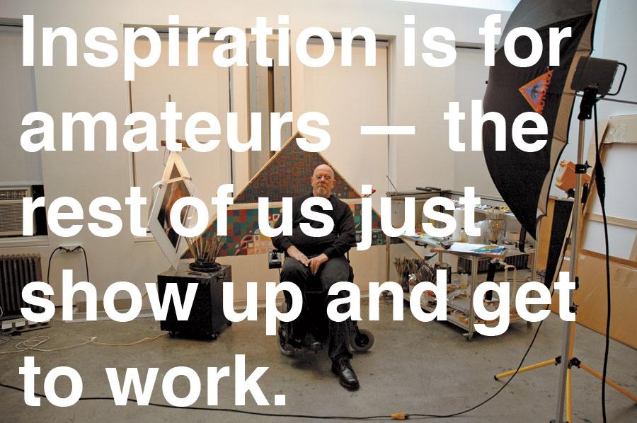 explore-blog :      Chuck Close   on creativity