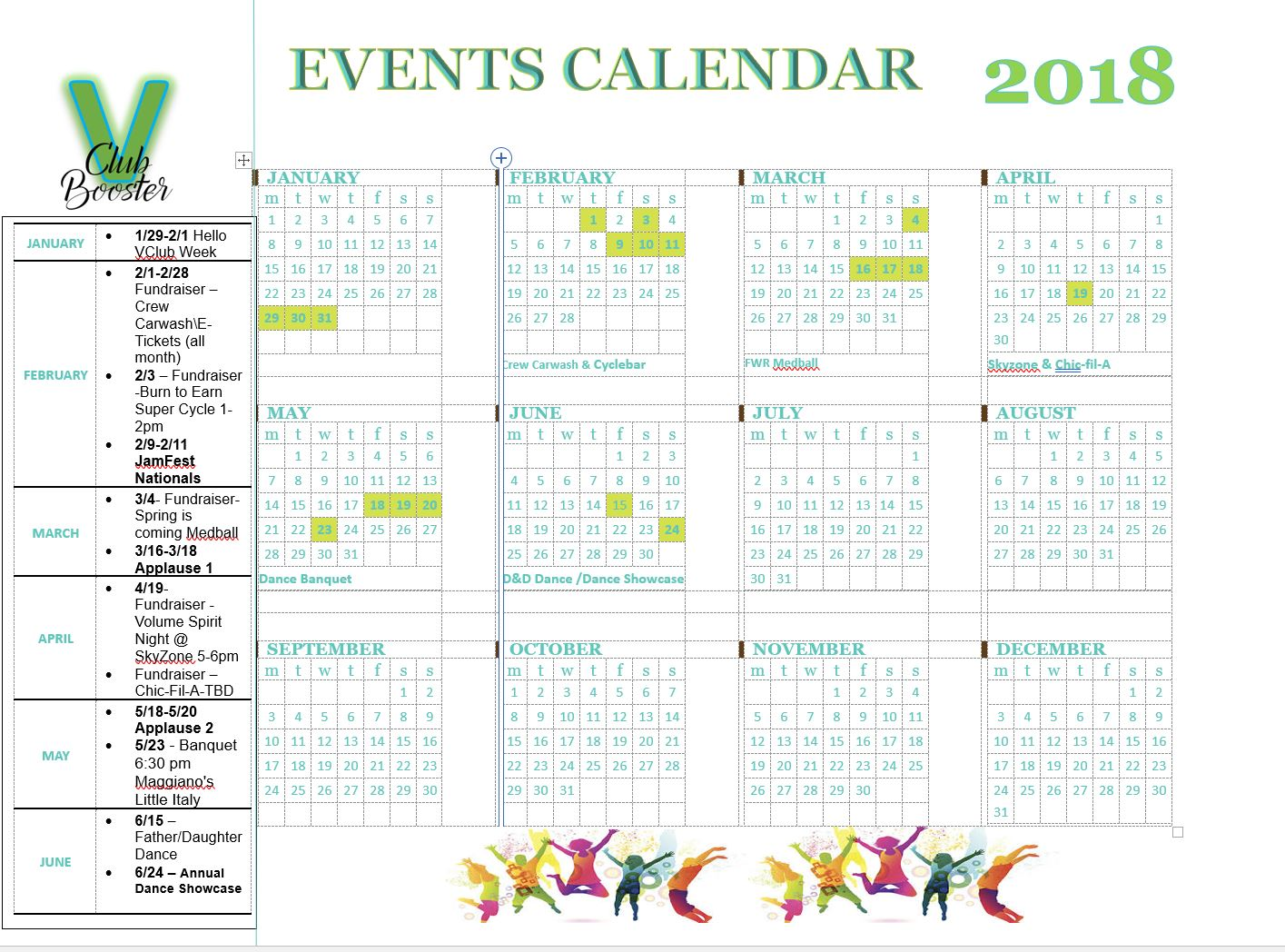 VClub 2018 Calendar of Events.JPG