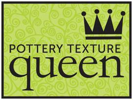 www.potterytexturequeen.com   Facebook: Lynn Wood, pottery texture queen  Instagram: @potterytexturequeen