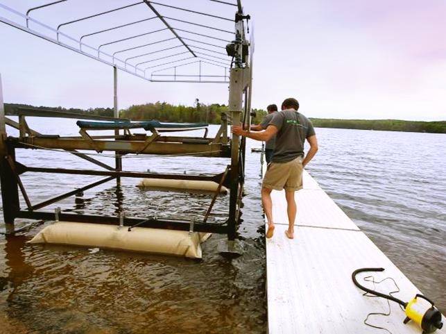 Boat Lift Helper Installing Boat Lift