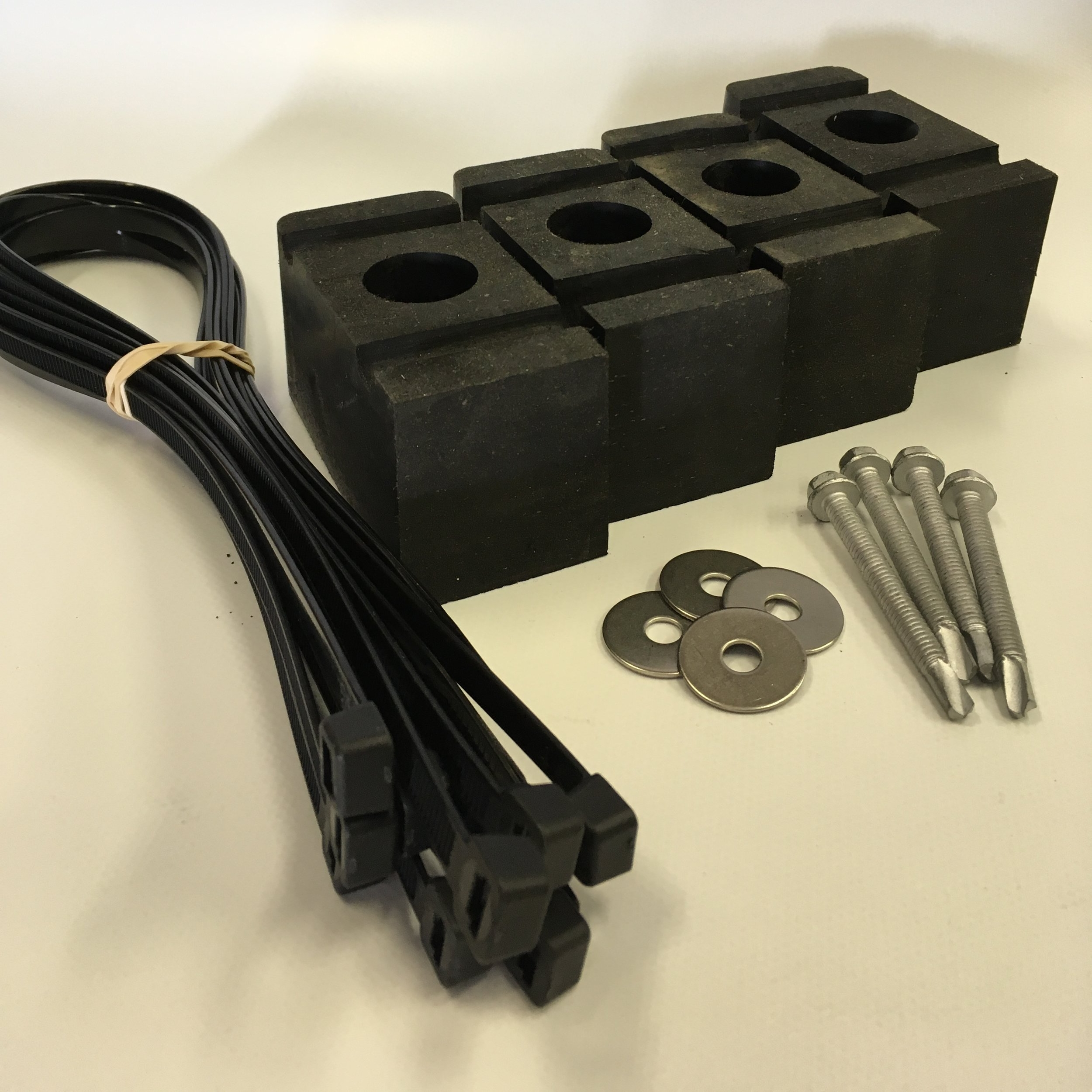 Rubber Stopping Blocks $58.50   Used for lift that bunk travels below cross beam. Floe/Beach King most common.