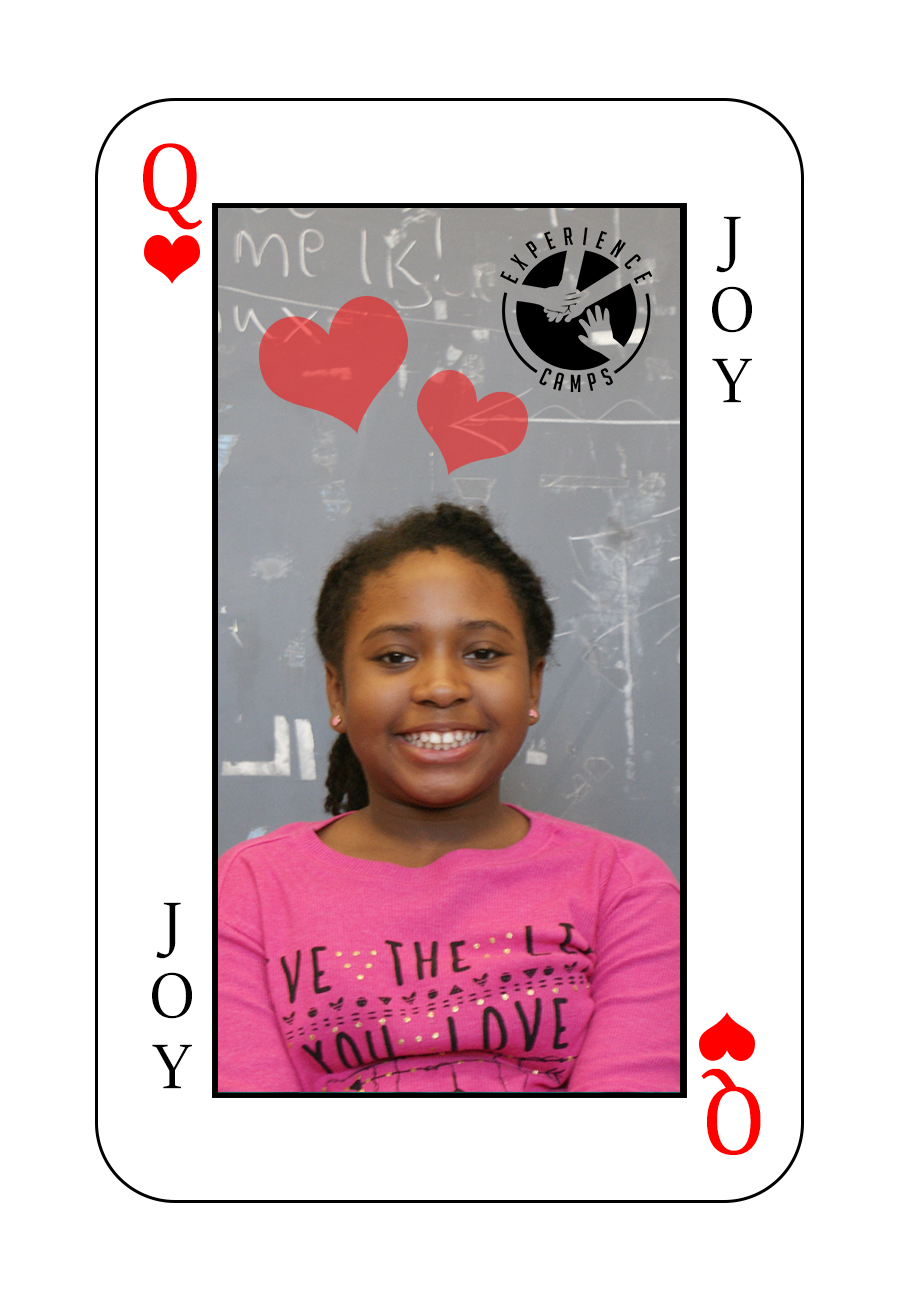 My name is Joy ad my mom died of a heart attack when I was 6 years old. Now I live with my grandparents in Far Rockaway, NY. This will be my 2nd year at camp. Camp is so special because you make friends that you've never seen before that understand and know what you're going through. They can relate to you because they know how it feels to lose someone you love. My favorite moment at camp was when I got to meet my counselors and all the people in my bunk. I can't wait to go back because camp is AWESOME.