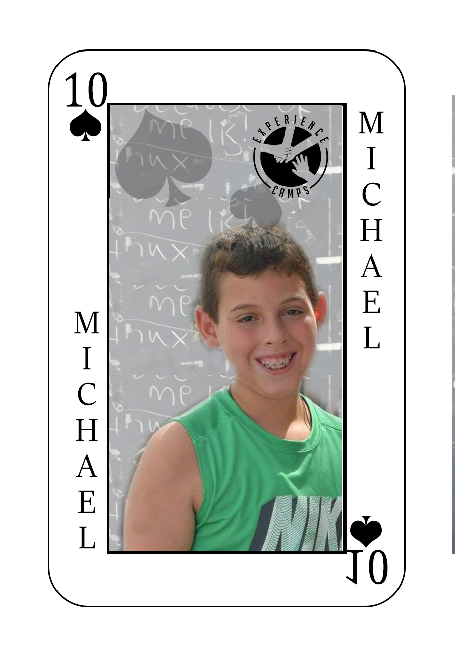 My name is Michael and my mom died of cancer when I was 7. She and I have the same birthday. Sometimes we used to go to Dunkin Donuts late at night together. My favorite donut was the chocolate glazed and my mom's was jelly.  What makes camp so special is the bond between the campers and the counselors because we all have lost someone we loved. My favorite memory from the week of camp is the closing ceremony. I don't have one word to describe camp but I have three. BEST WEEK EVER!