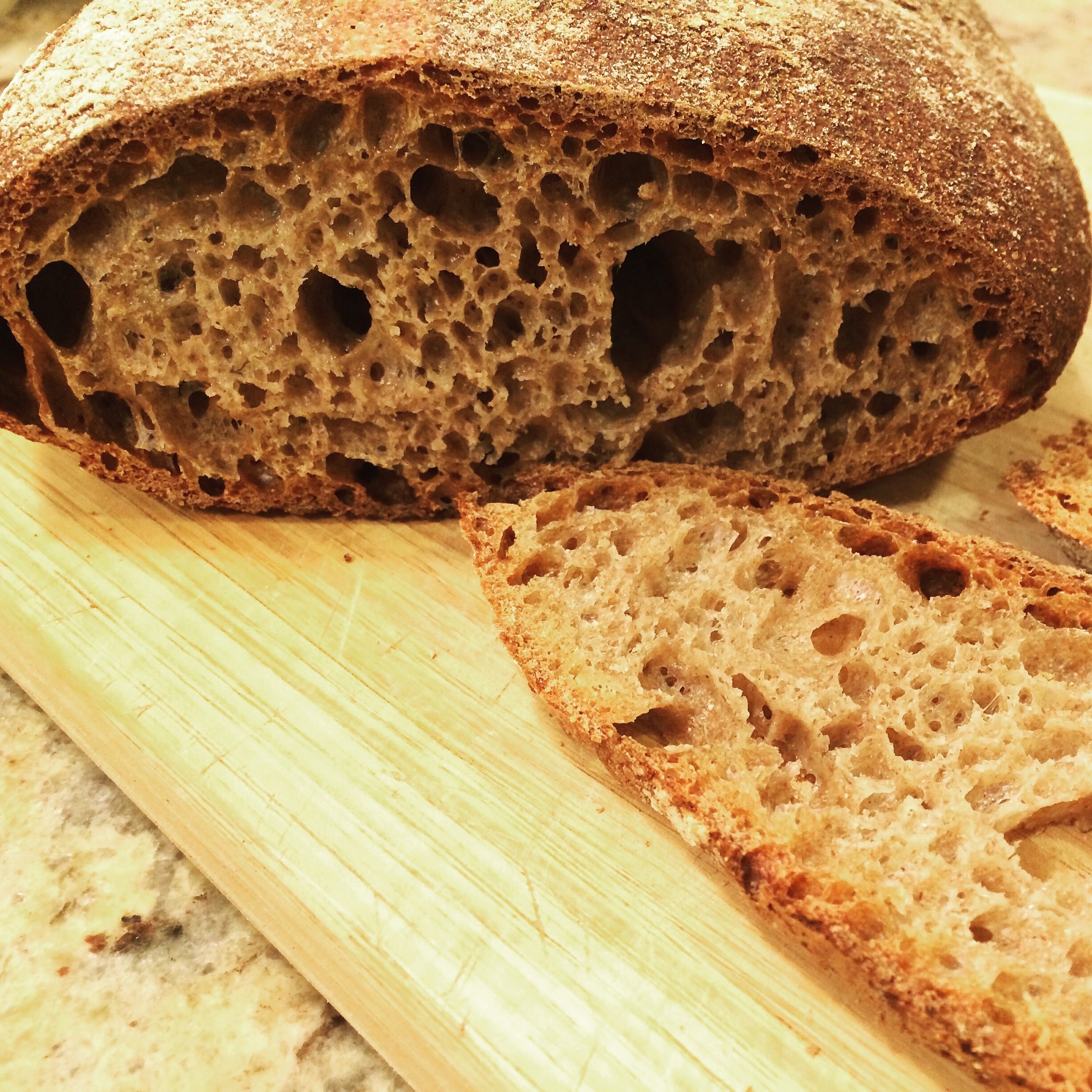 Sourdough whole wheat loaf