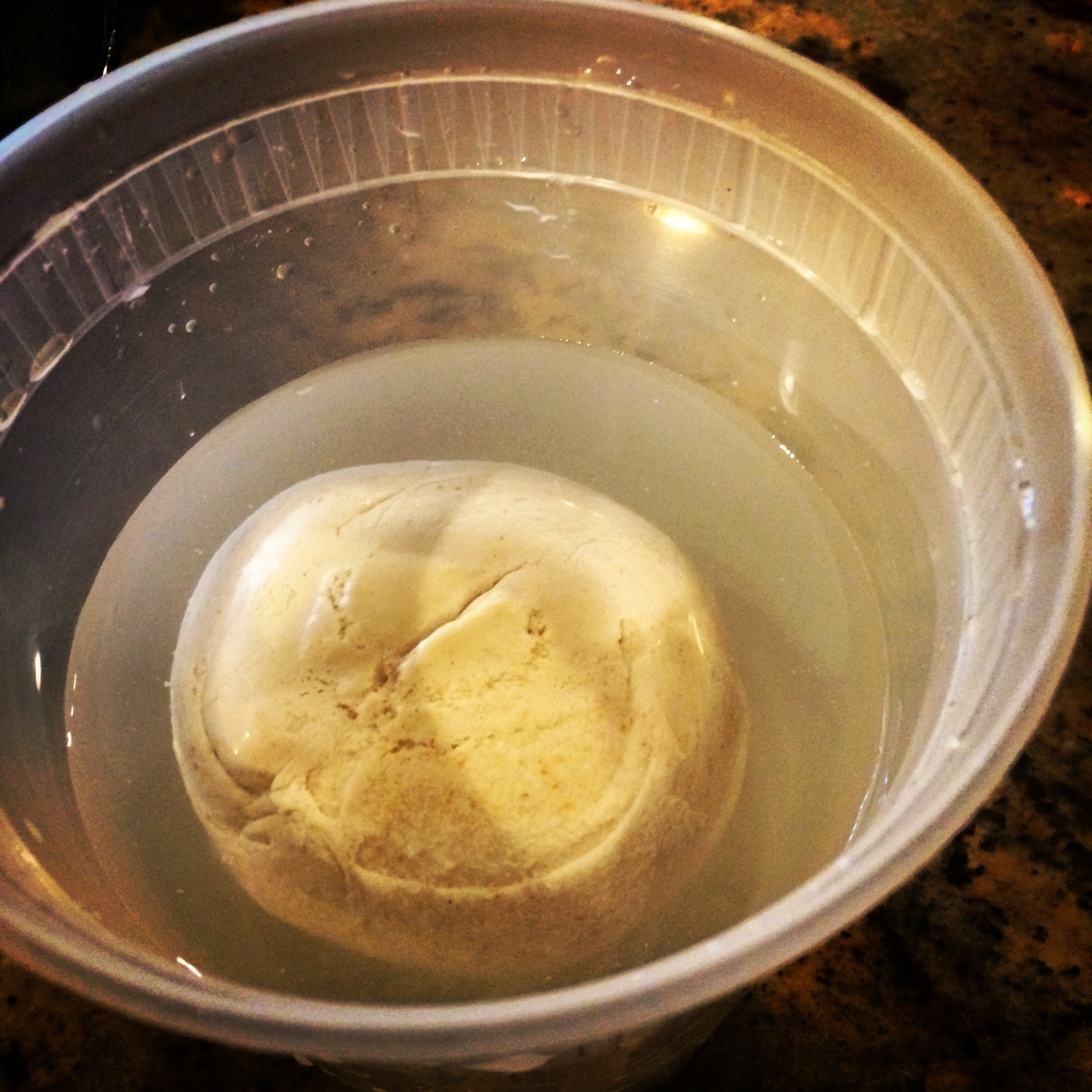Fully risen sourdough will float in a container of water