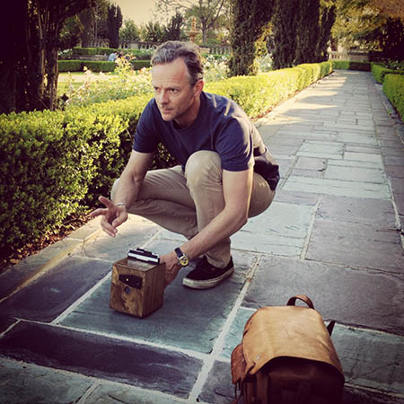 With one of my beloved pinhole cameras on location in Los Angeles