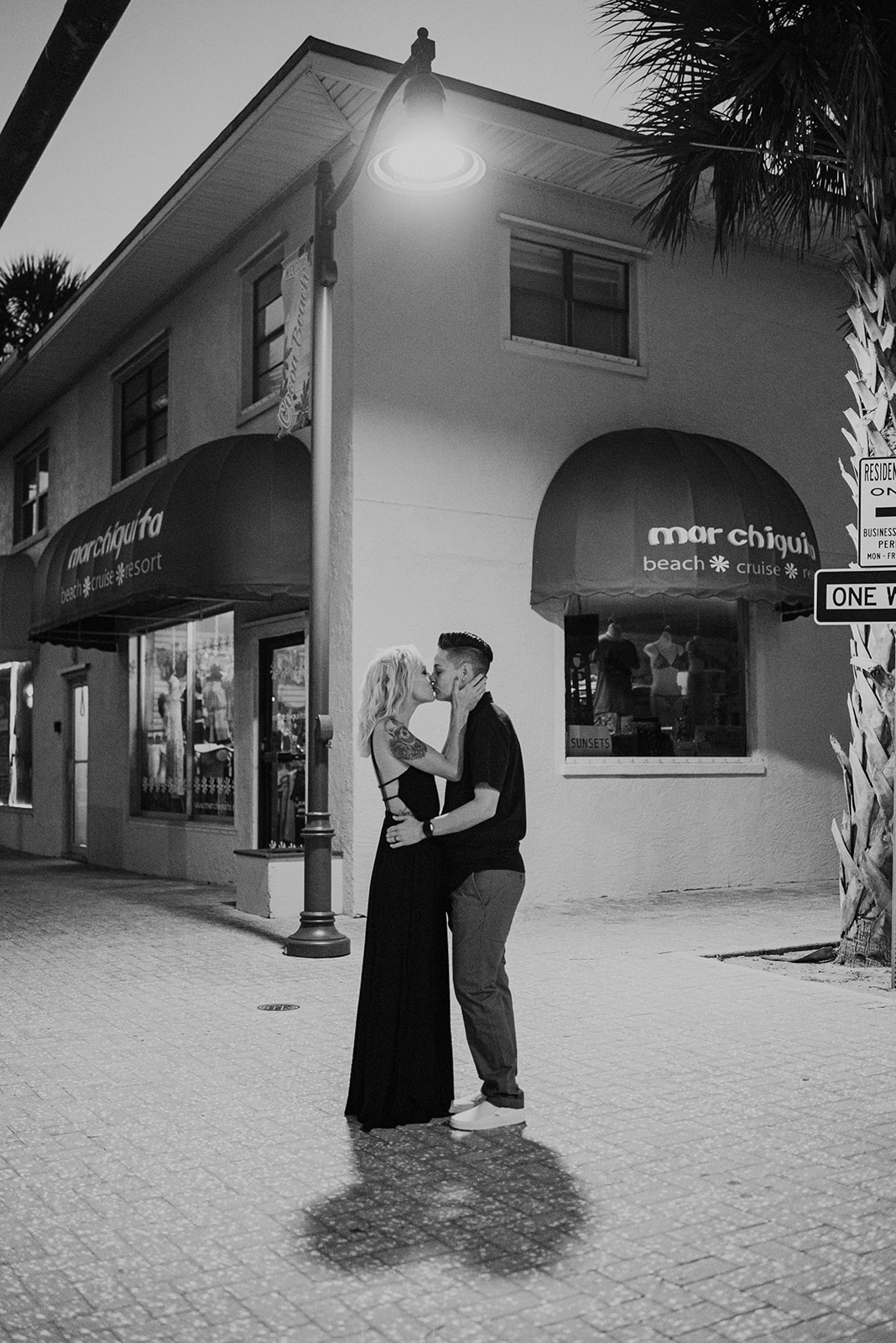 downtown cocoa beach florida engagement photos