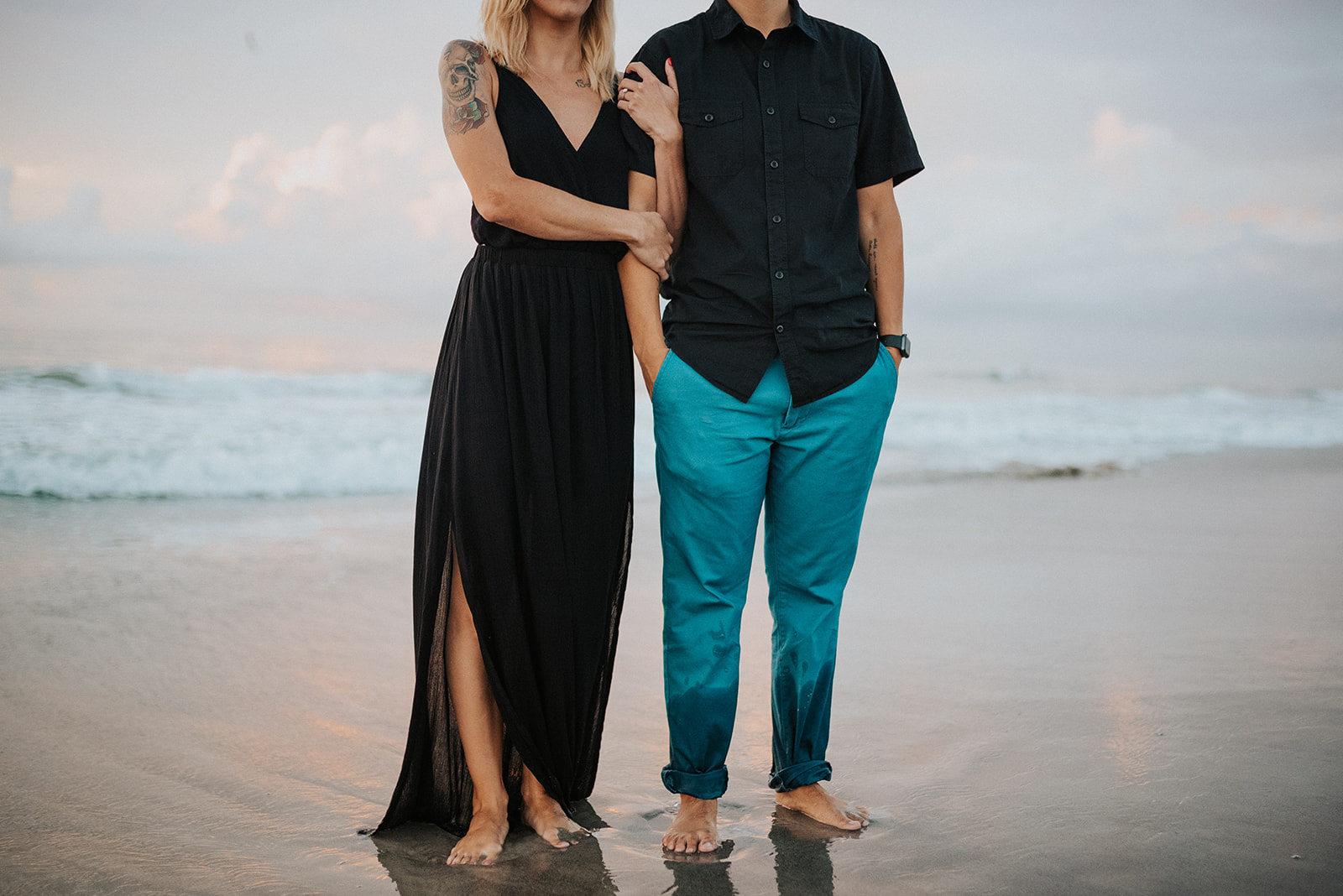 downtown cocoa beach florida same sex engagement photos