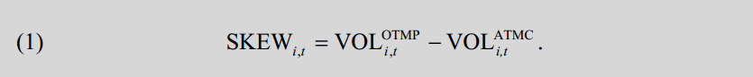 SOURCE:  WHAT DOES INDIVIDUAL OPTION VOLATILITY SMIRK TELL US ABOUT FUTURE EQUITY RETURNS?