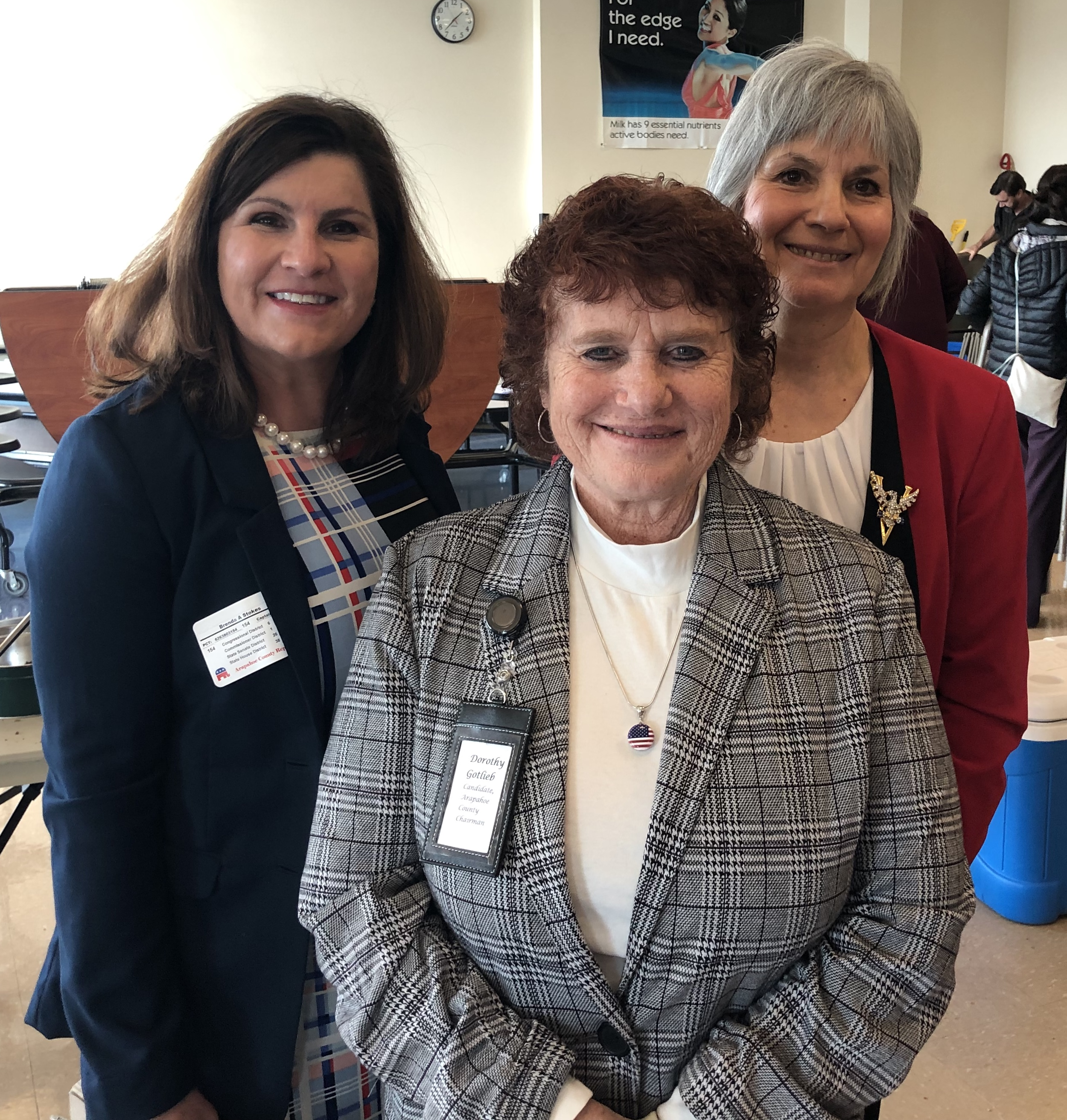 Please welcome our new county leadership! Brenda Stokes, left, Vice-chair. Dorothy Gotlieb middle, Chair. Pam Cirbo, right, Secretary. -