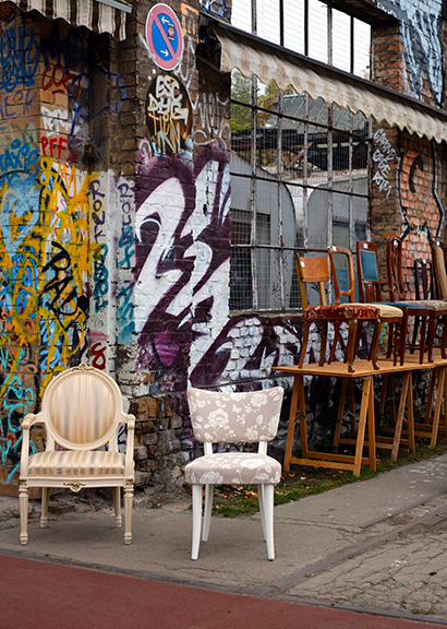 One of the last artist squats in Berlin is in an old train repair depot closed in 1949.