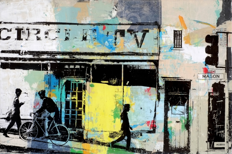 Circle TV 2.0, 24 x 36 in., Mixed Media, $1600