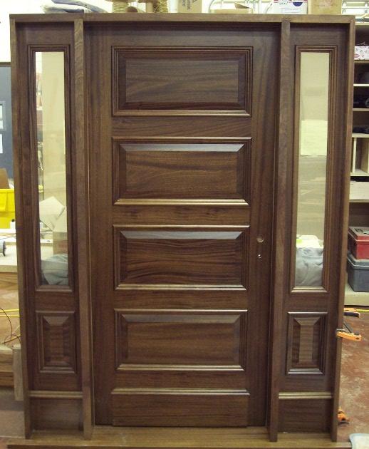 Raised panel entry door. D46
