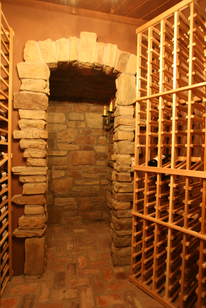A new but old wine cellar waiting to be stocked up. W4