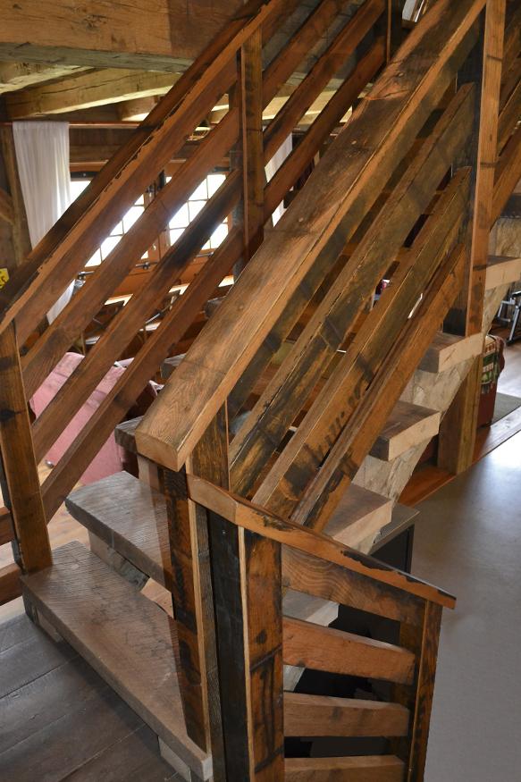 Detail of wine vat railing.