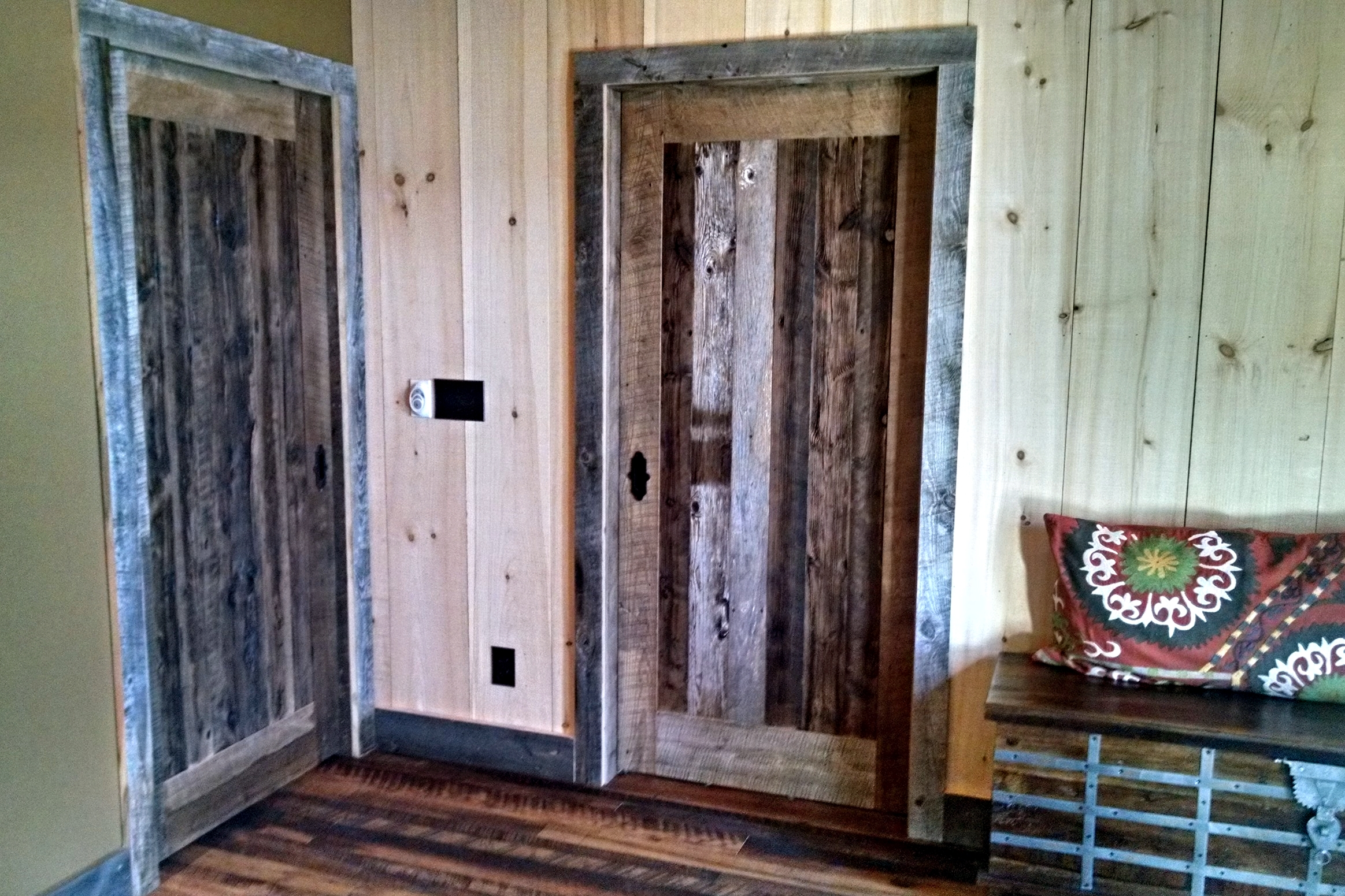 Old barn siding has stood up to the worst of weather for near a century, so not only has the surface layer developed a wonderful patina, but it also protects the wood underneath.