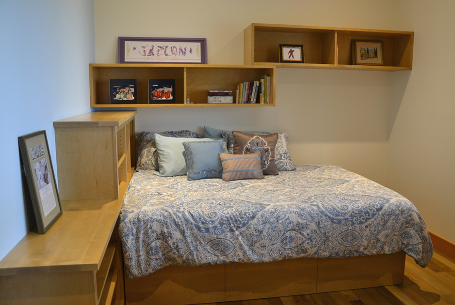 Maple Bedframe, Cupboards, and Cabinets
