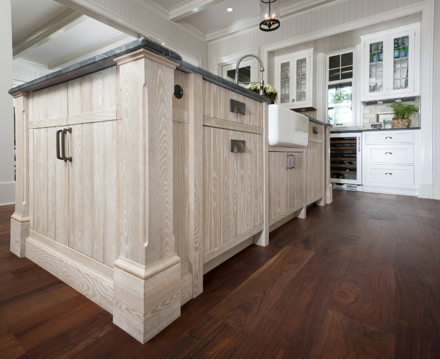 Custom finished kitchen island. Photo by Sandra Kicman.