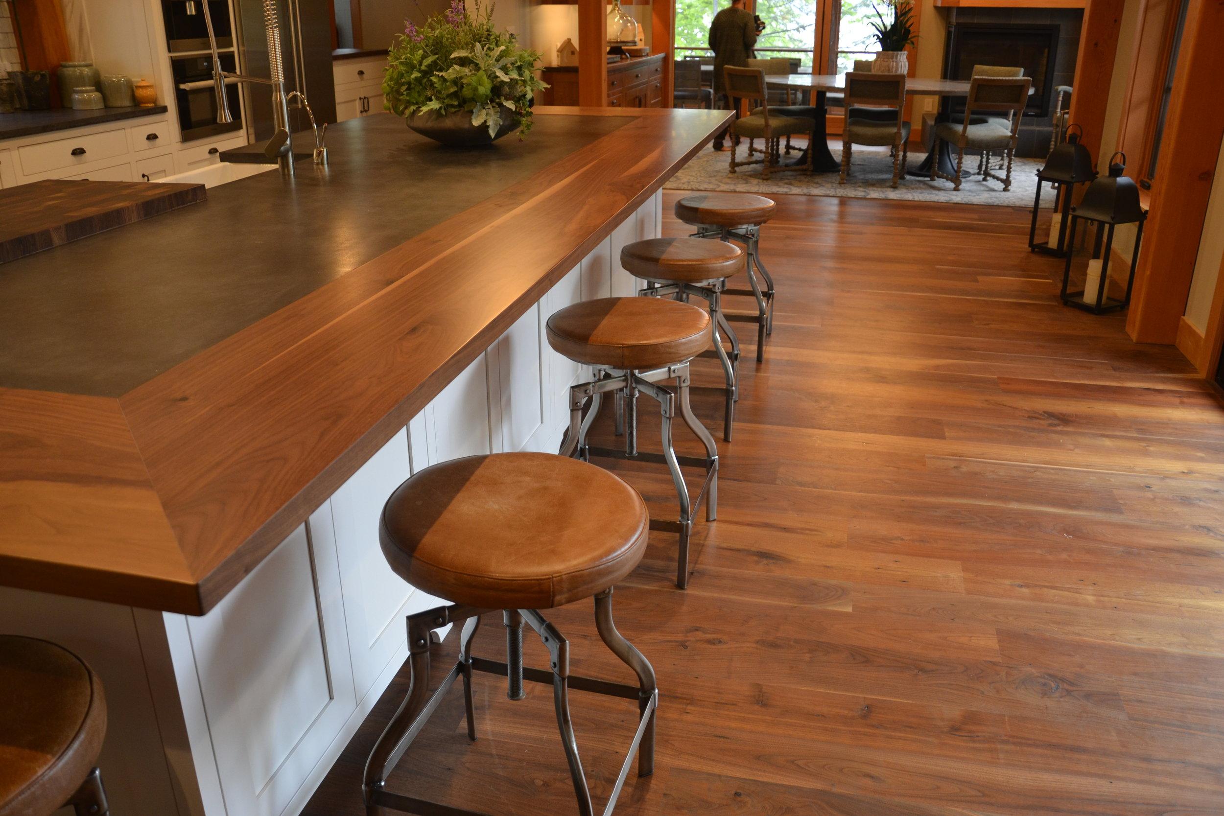 Plank Walnut surround counter top