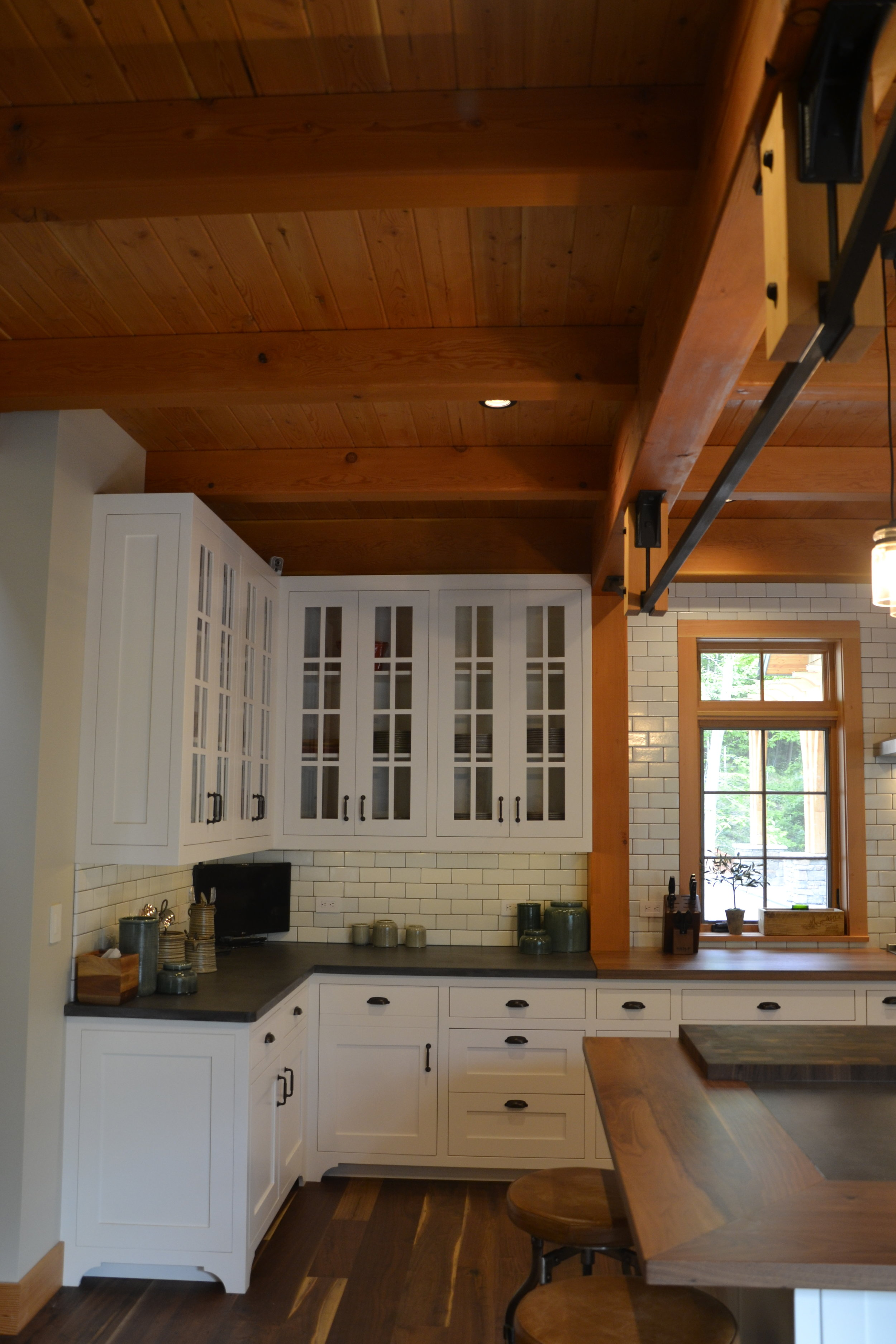 Custom finish Maple cabinetry - Breakfast in Mongolia