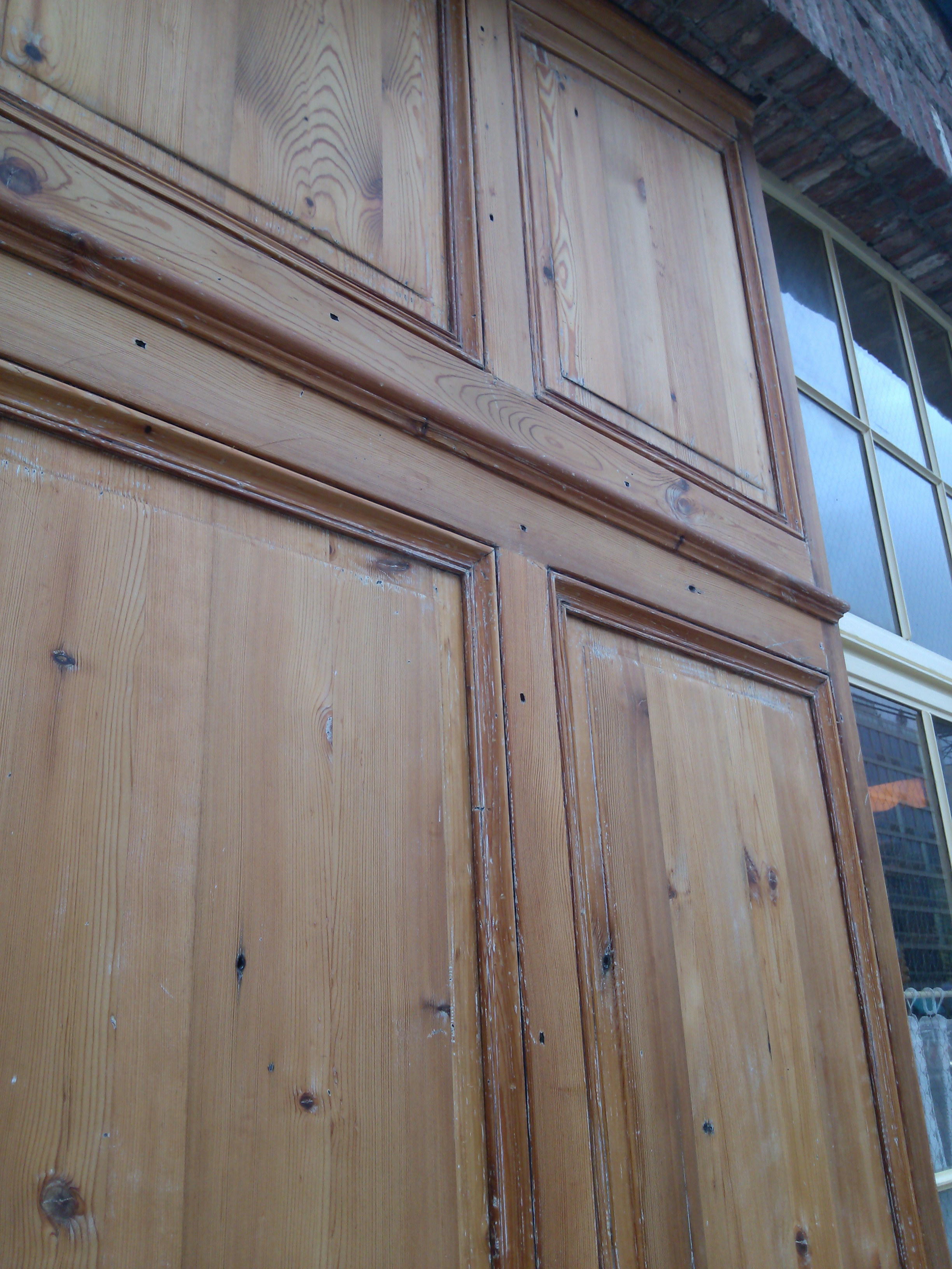 Exterior panels for a restaurant front detail