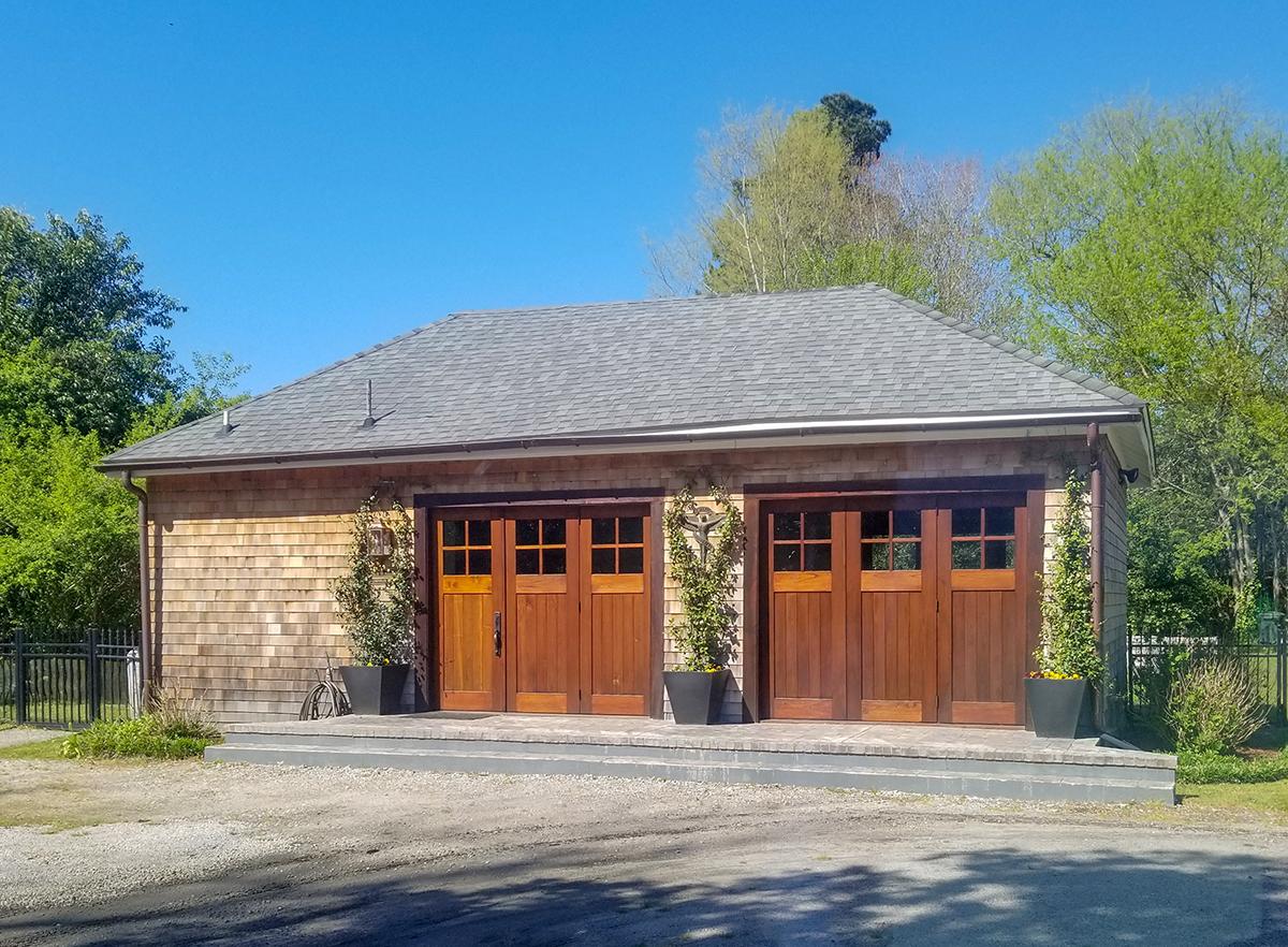 Cedar Accordion Doors