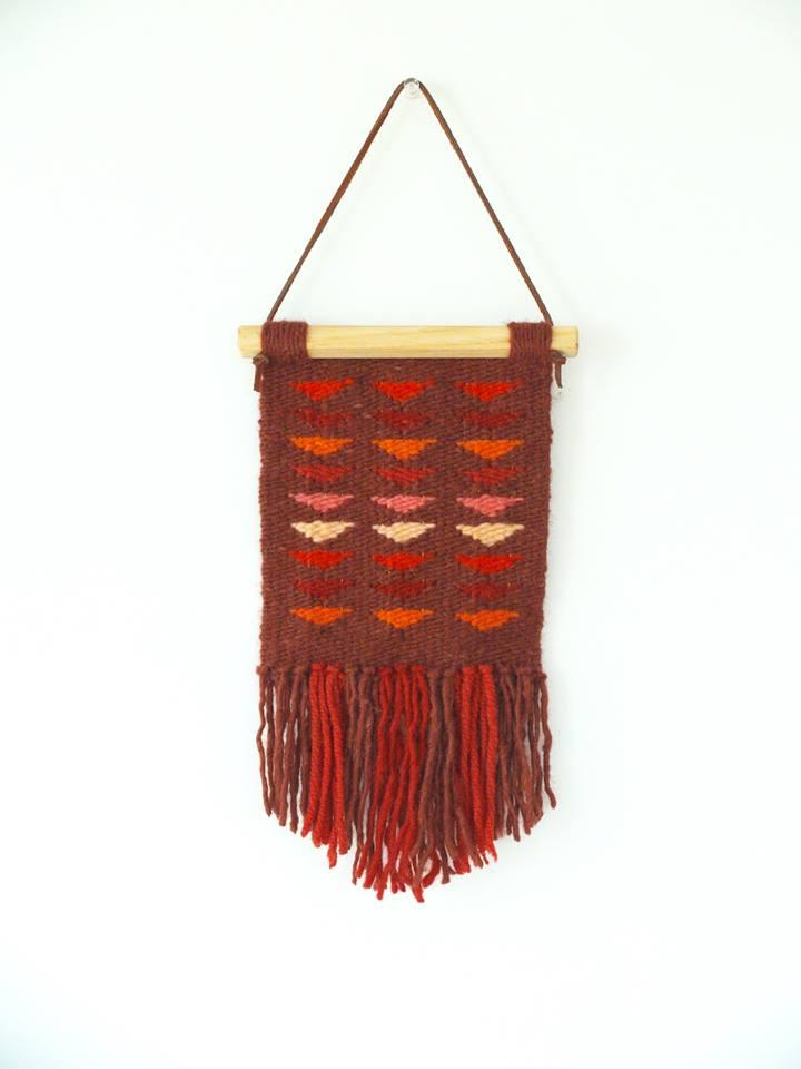 """Natalie Novak, 'Flying Geese', weaving, 6.5"""" x 11"""""""