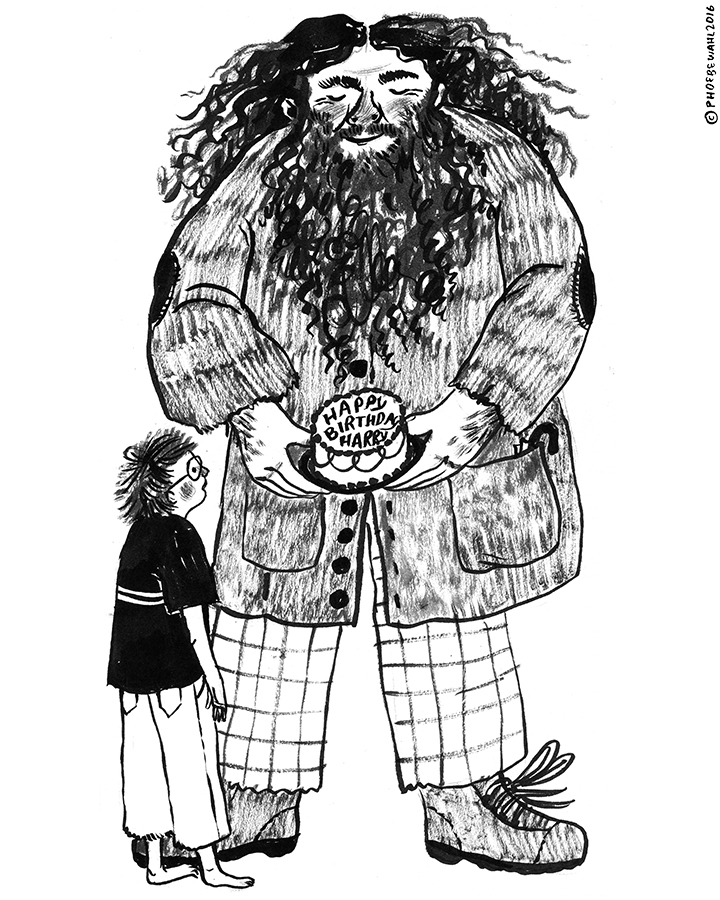 Rubeus Hagrid & Harry Potter, for Day 7