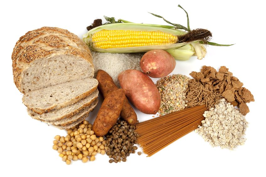Carbohydrate rich foods, bread, potatoes,pasta,corn, rice.