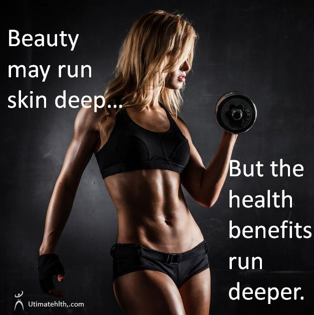 Woman holding weights. Ultimate Health Personal Training Center - Los Angeles meme