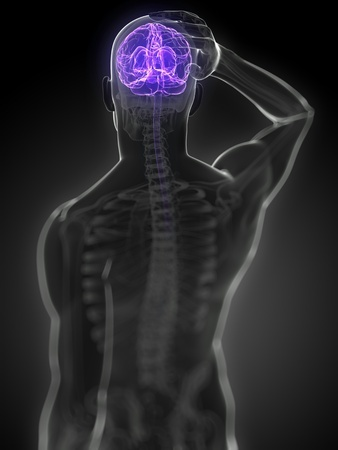 Man brain lit up - Ultimate Health Personal Training Center - Los Angeles, CA