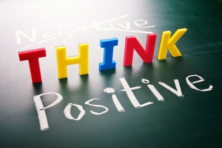 Picture of the words think positive. Ultimate Health Personal Trainer Los Angeles, CA 90068