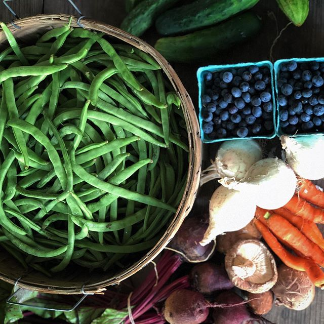 It's that exiting hustly bustly time of year that spring begins colliding with summer and we have an incredible combination of goods all bursting with unique flavors.  This is a time to savor all those mouth watering combinations all at once!! Trading Post Open every Saturday from 9-11  Veggies, berries, meats, cheeses and yes lots of tender fresh green beans!! .  #farmtotable  #organicveggies  #familyfarm #regenerativeagriculture