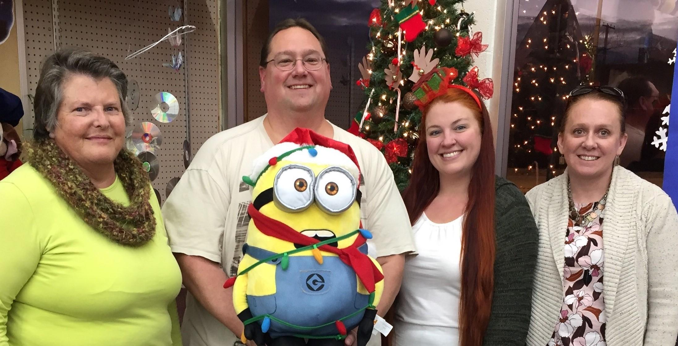 Sally, Scott, Library Minion, Jessie and Della