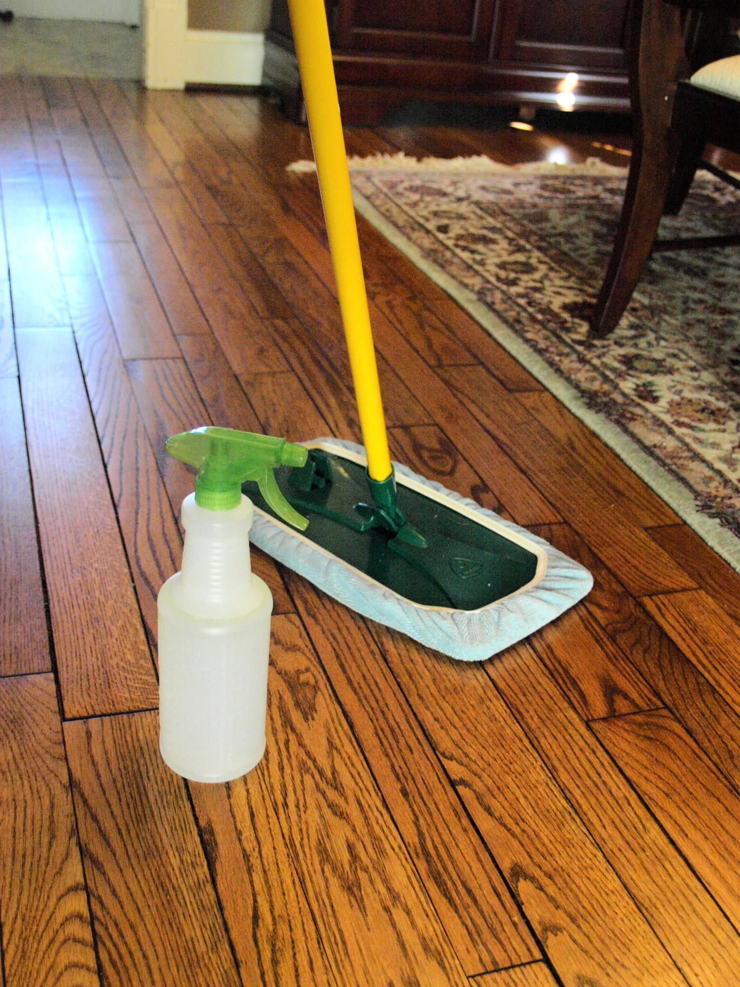 No chemical residue, no damage to our hardwood floors...