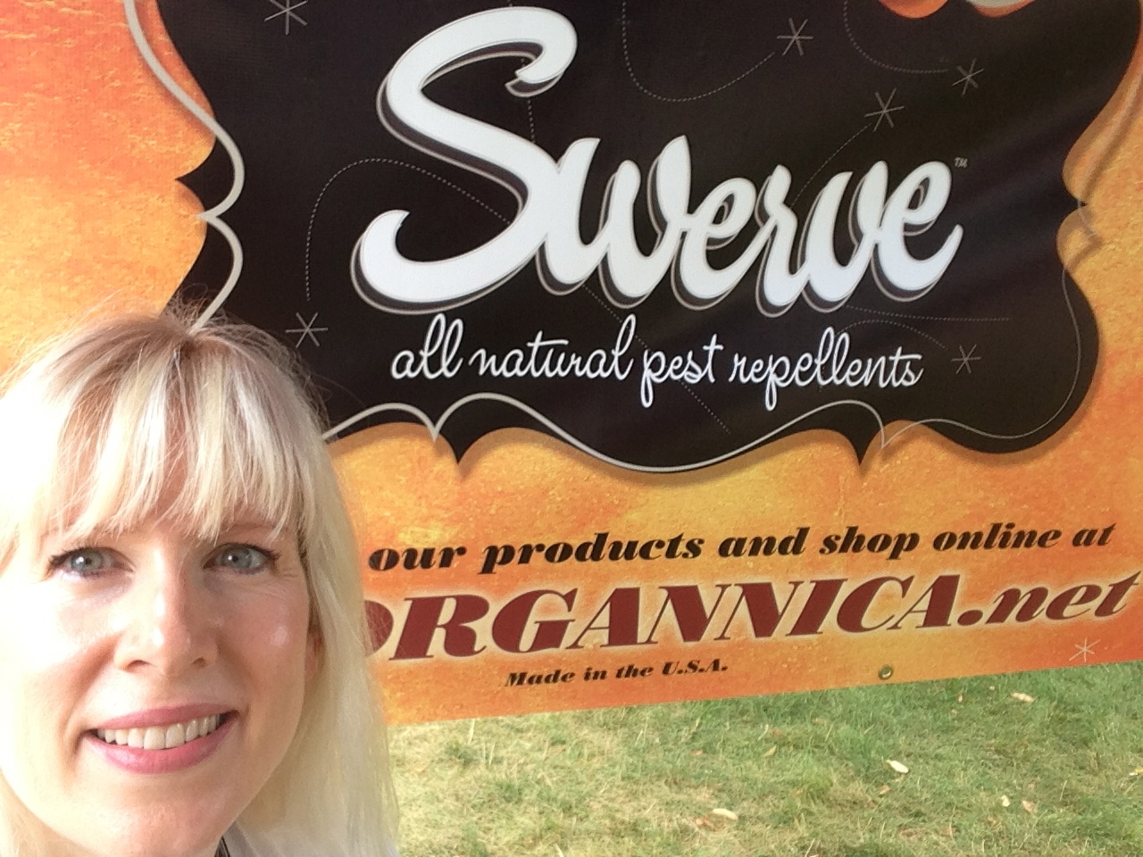 Owner & Inventor, Jennifer Angone at a local farmers market in Illinois