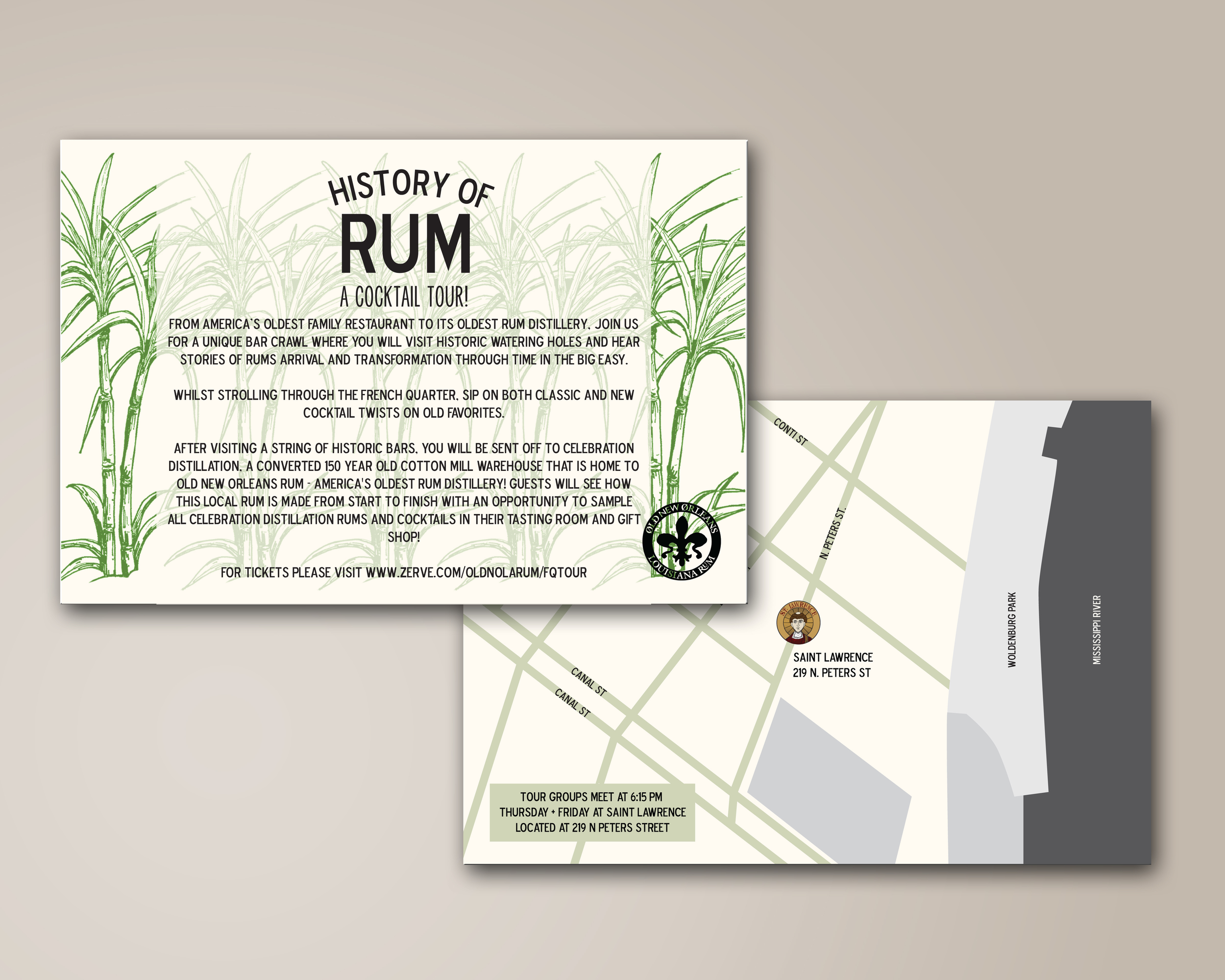 Rum Tour Card