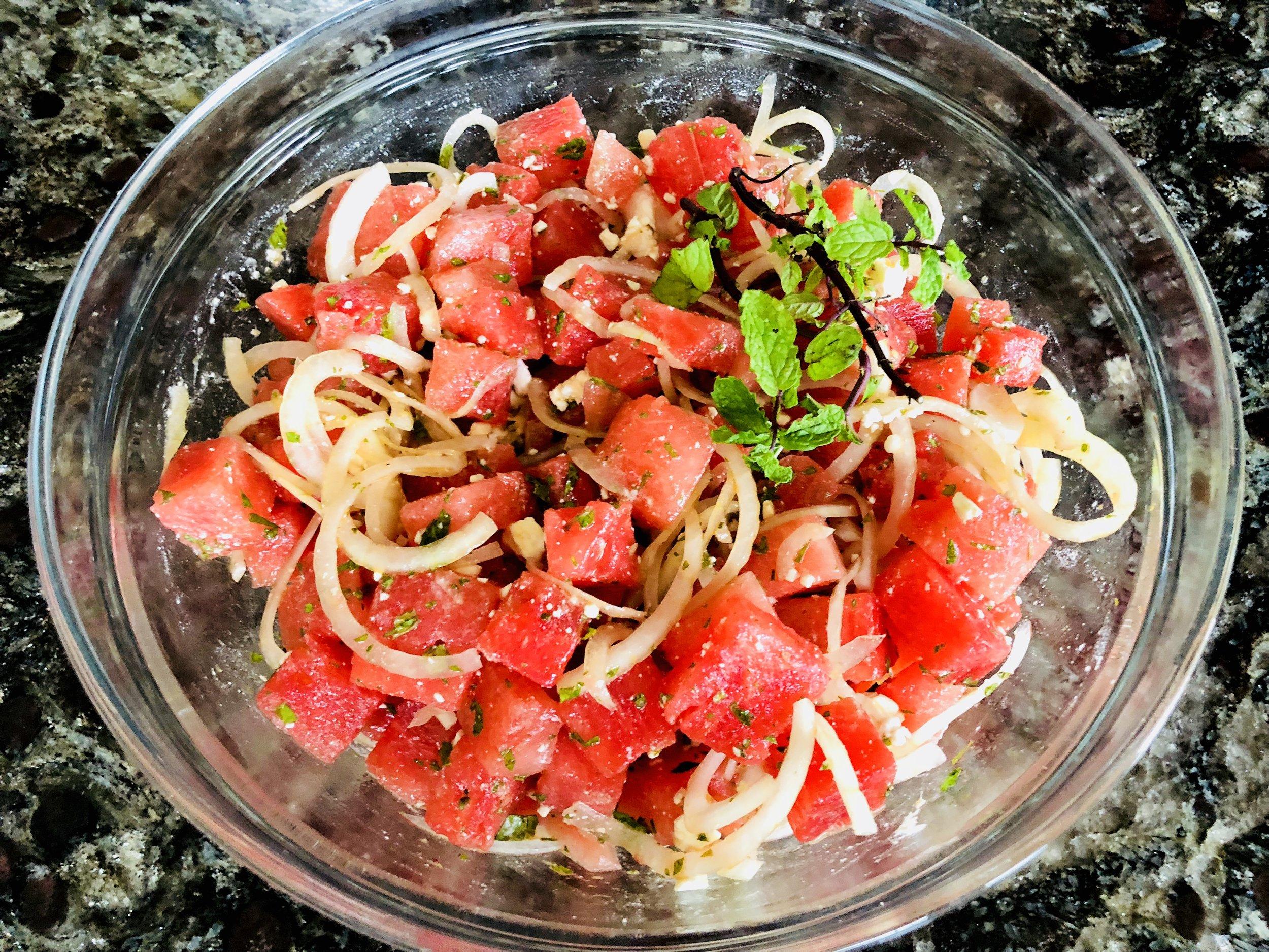 Erica Bethe Jewtalian Watermelon Feta Summer Salad