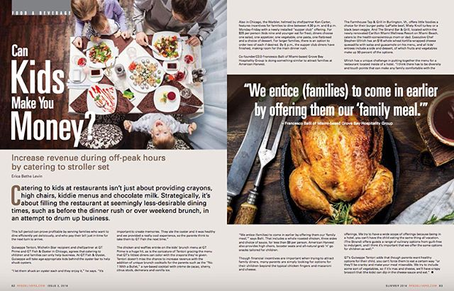 Restaurant Inc.'s summer issue is out and I am thrilled to have written four articles covering topics that I love: #food, #chefs, #kids (how they can actually make you money for once) and #technology. This byline makes me seriously giddy. Congrats to the entire team on a gorgeous issue. . . . #foodwriter #foodblogger #foodie #restaurantinc #summerfood #foodgrammer #foodielife #foodislove #foodiesofinstagram #cheflife #restaurateur #restauranttechnology #reservationsystems #kidfoodies #foodiekids