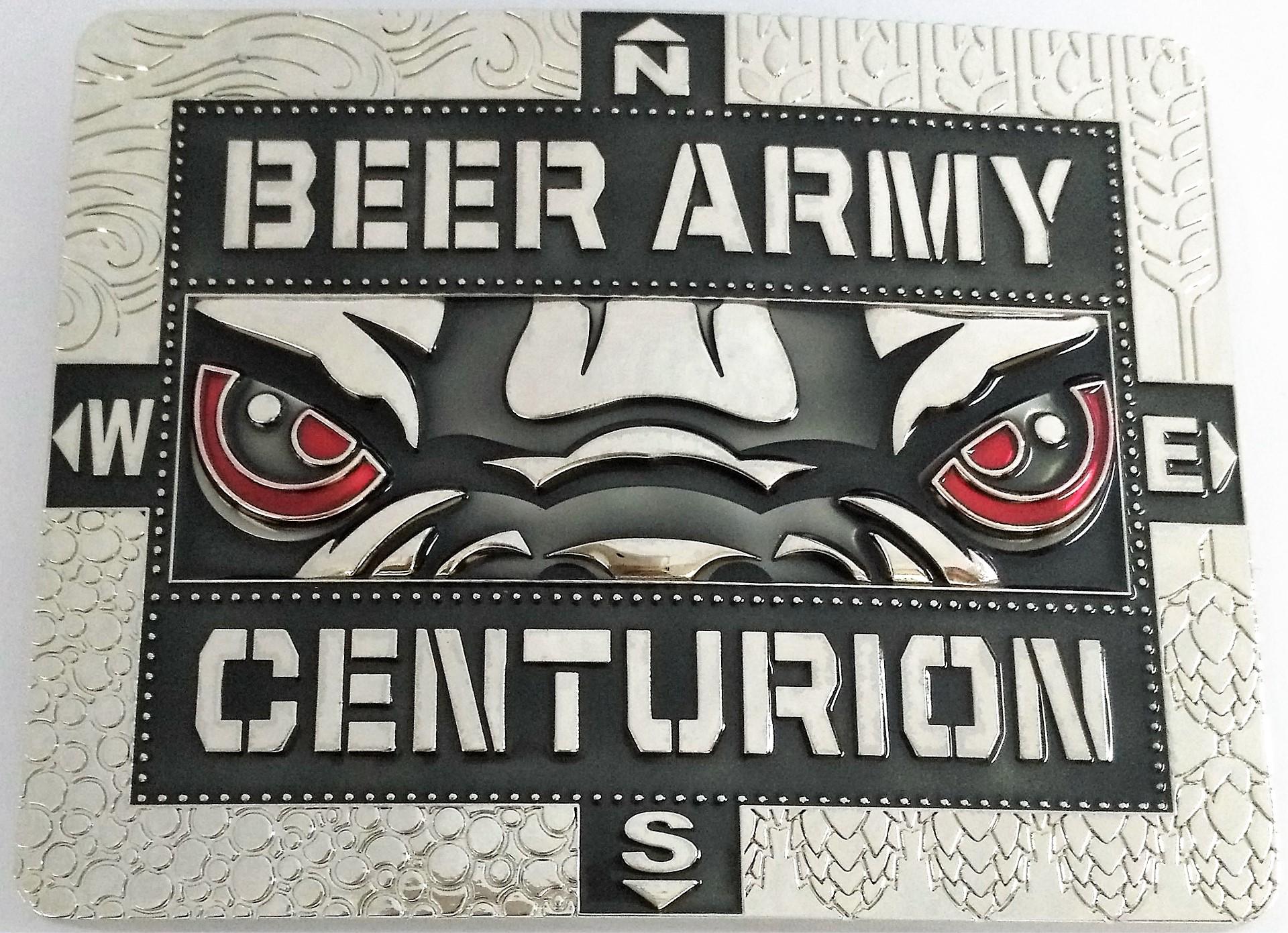 The current Centurion Challenge belt buckle