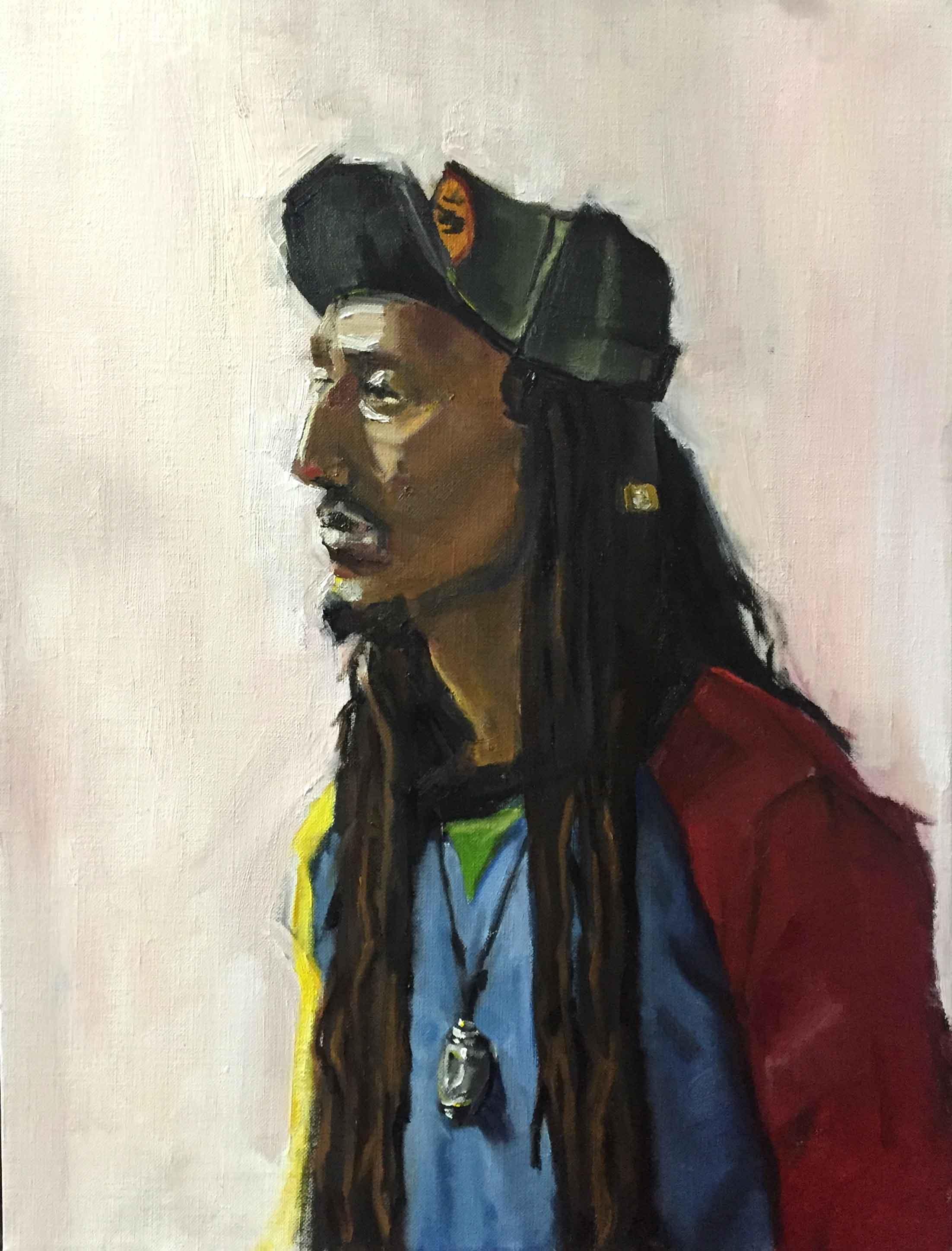 "Devon in Primary   2016, oil on canvas 18x24"""