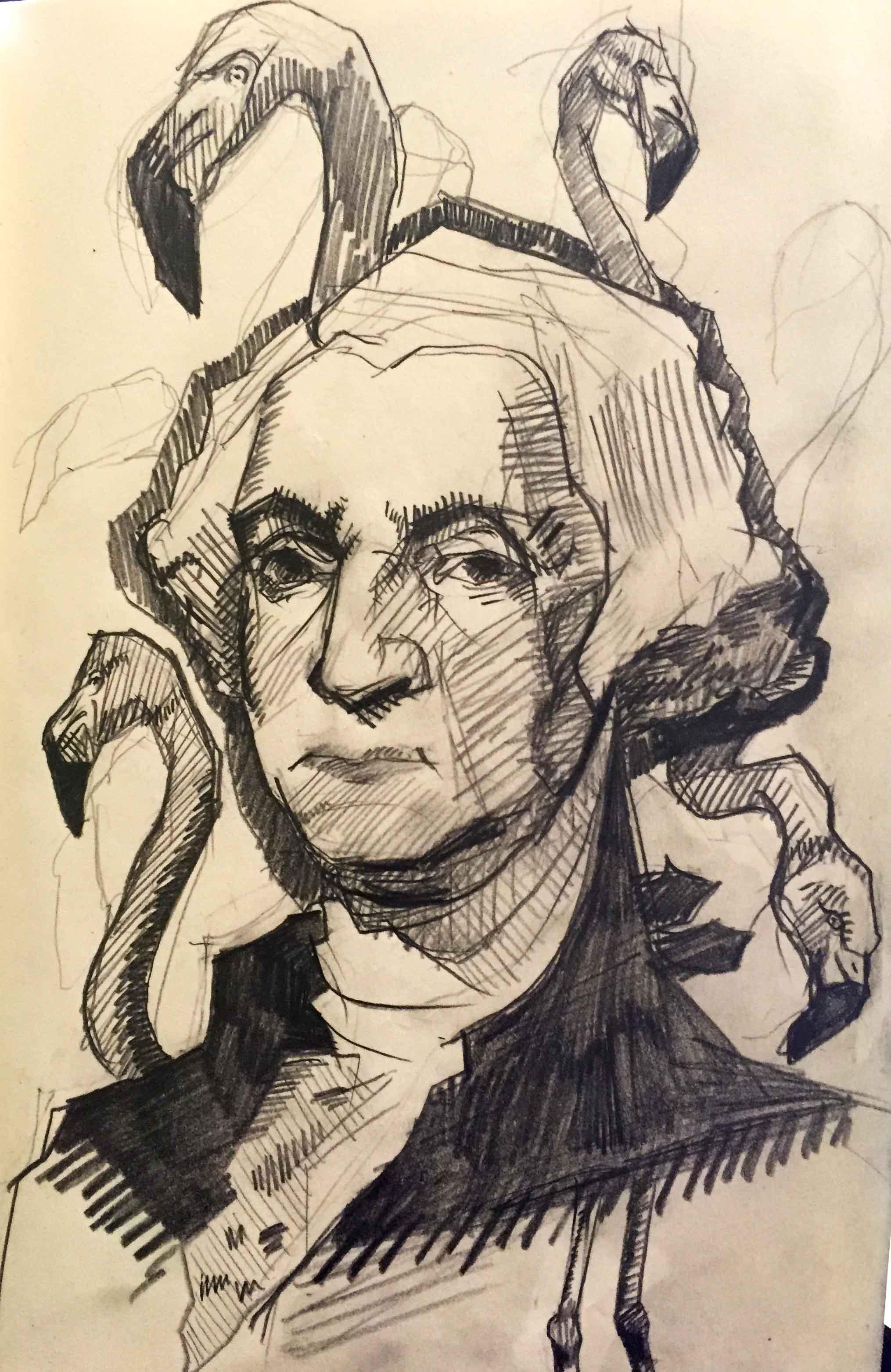 Revolutionary, 2016, pencil sketchbook work