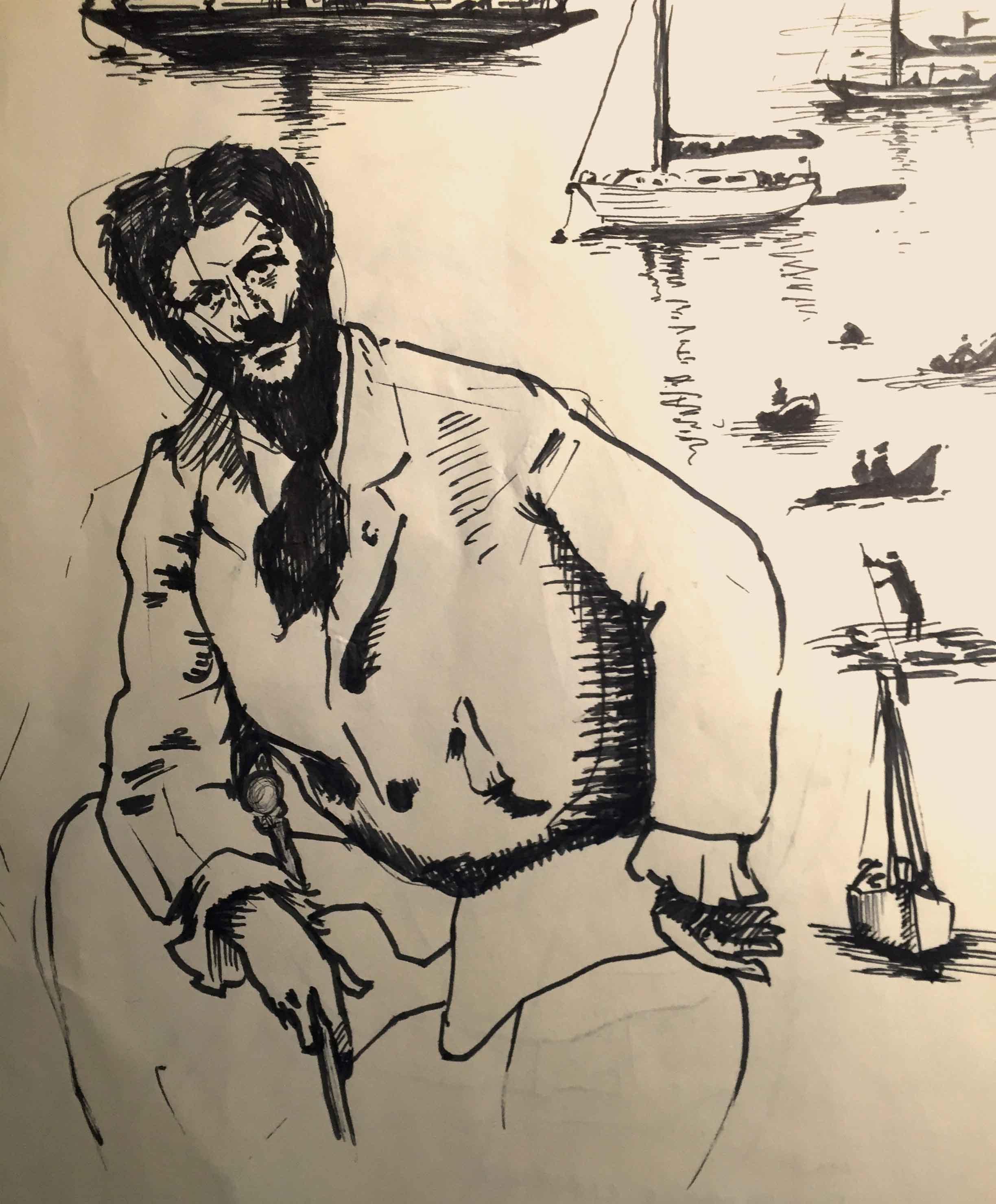 Newport Gentleman , 2015 ink in sketchbook