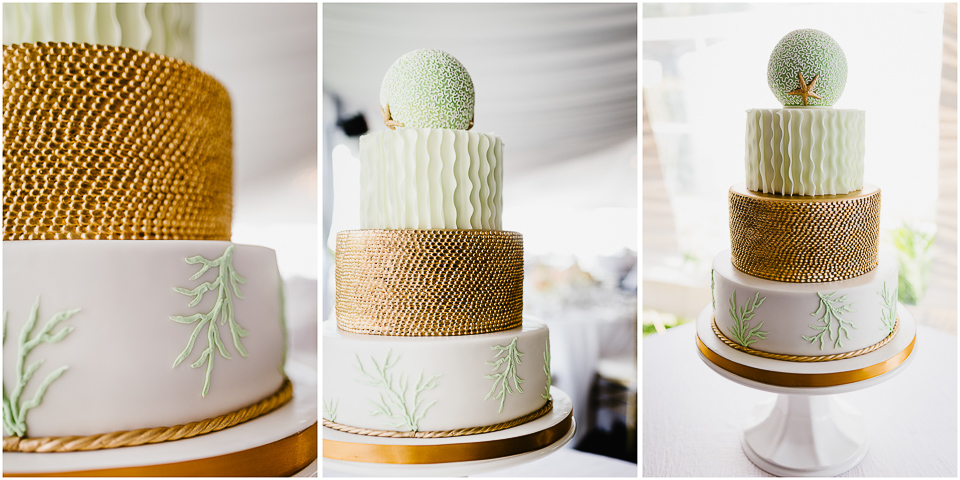 Seagate Beach Club Destination Naples Wedding - Cake-Frances Nieves Photography