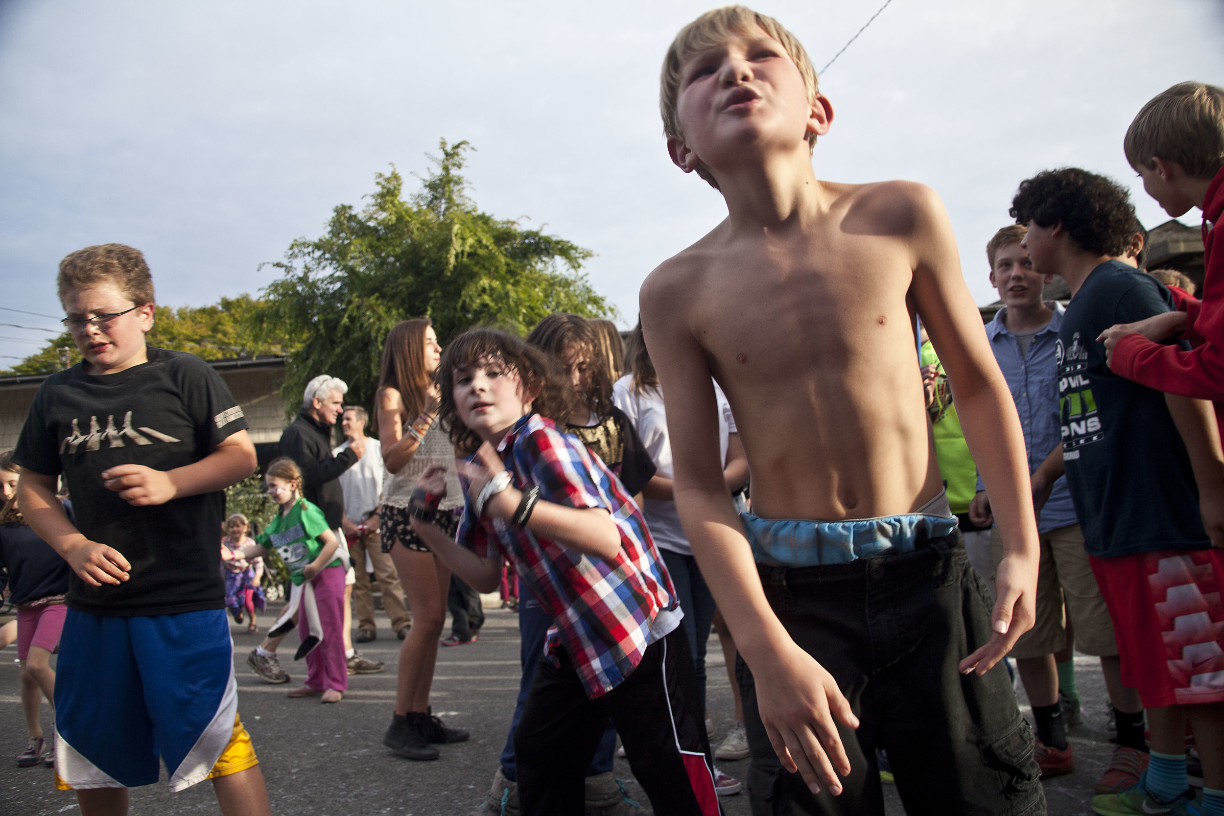 Young dancers show a little attitude at the 2014 July 3rd Street Dance event in downtown Winslow on Bainbridge Island.